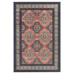 Anchor your living room seating group or define space in the den with this loomed art silk rug, featuring a suzani-inspired tile motif for eye-catching appea...