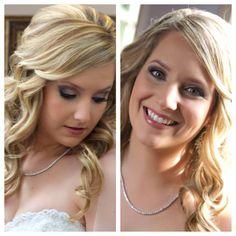My wedding makeup by Julie O'morrow! Smokey eye makeup for green eyes.