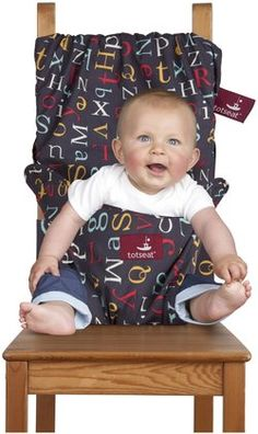 Svan Totseat Chair Harness - the original portable, washable and squashable seat to safely attach to all types of chairs, making any seat baby or toddler-ready.