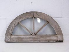 Columbus Architectural Salvage - Small Semicircular Wood Window