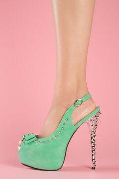Sea foam green.