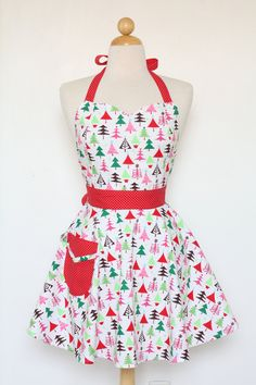 Christmas cookie baking apron!!
