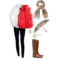 """""""Burberry & fall"""" clothes combine i really want some of these boots, there sooo cute'"""