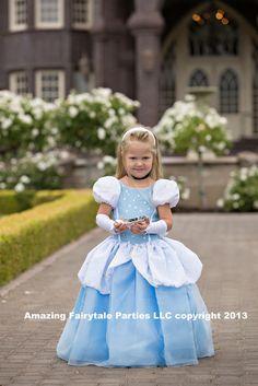CInderella Costume for Halloween Girls Dress Up by 7dwarfsworkshop, $55.00