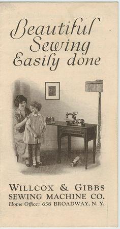 Wilcox & Gibbs Sewing Machine Trade Brochure