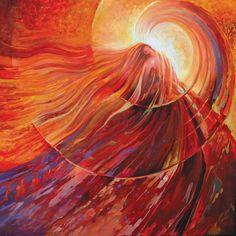 sensation of crimson by Freydoon Rassouli