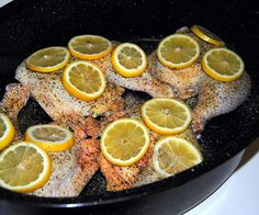 Roasted Lemon Chicken Quarters. 7/25/13. I did this in a crockpot instead of in the oven.
