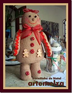. de natal, christma idea, biscoitinho de, sew toy