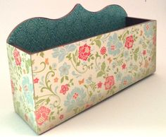 Decoupaged Letter Holder/ Organizer and by PillowtasticPlus, $15.00