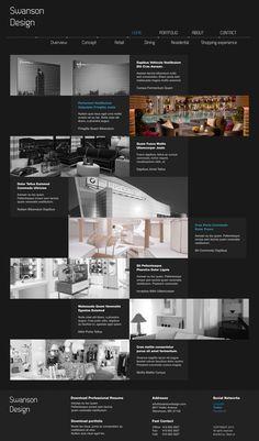 Swanson Design | #webdesign #it #web #design #layout #userinterface #website #webdesign <<< repinned by an #advertising #agency from #Hamburg / #Germany - www.BlickeDeeler.de | Follow us on www.facebook.com/BlickeDeeler
