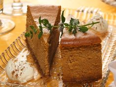 Pumpkin Cheesecake - this was so good and so creamy!