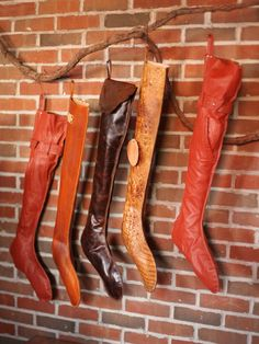 Unique Handmade Christmas Stockings : Decorating : HGTV | Leather stockings.