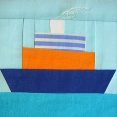 Ship Paper-pieced Quilt Block