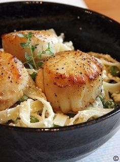 Lemon-Ricotta Pasta with Peas and Seared Scallops best recipe to try