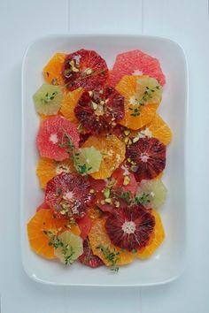 Citrus Salad with Manuka Honey, Vanille & Pistachio