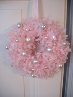 Pink Christmas Wreath by artcreations, via Flickr