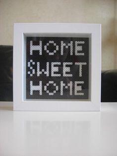 Home Sweet Home perler frame by Mandis & I