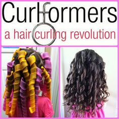 Have you heard of Curlformers?  We get beautiful curly hair quick and easy with no hot iron damage.  We love these!!!