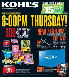 Kohl's Black Friday Ad, 2013