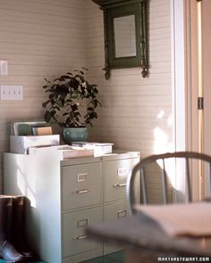 Martha Stewart wood furniture, file cabinet, paint cans, filing cabinets, furniture projects, paint file, martha stewart, metal furniture, home offices