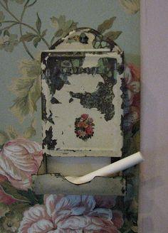 A Vintage Match Holder...as a chalk holder
