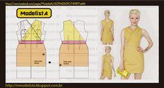 ModelistA: ESCONDE CORAÇÃO costura, sew, escond, draft, patron, pattern, modelista, dress, modelagem