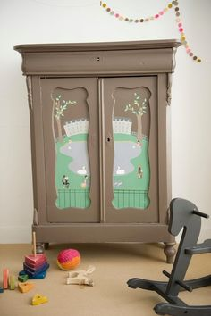 Great handpainted cupboard