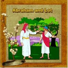 Patriarch Lesson: Abraham and Lot Seperate 4-Step #Bible Lesson, homeschool, Bible study, #free printable #lapbook, Bible #craft