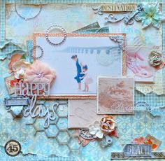 This is a gorgeous Secret Garden layout from Maiko! How beautiful and full of texture and dimension #graphic45 #layouts