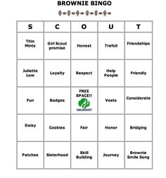 Girl Scout Brownie Bingo