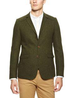 Herringbone Blazer by Ben Sherman blazer ben, herringbon blazer, colleg green