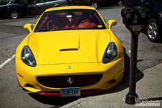 Yellow Ferrari. Yes or no?