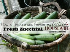 How to prepare and freeze fresh zucchini