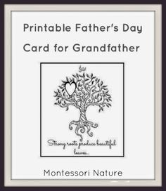 Printable Father's Day Card for Grandfather