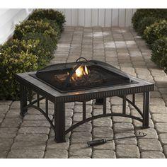 "Garden Treasures 30"" Black Steel Wood-Burning Fire Pit - $89"