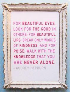 True beauty advice.