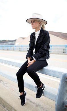 @alwaysjudging in #JBRAND's black denim jacket.
