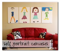 Sugar Bee Crafts: Self Portrait Canvases