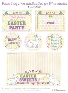 bnute productions: Free Easter Printables: Spring is Here Party