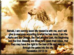 REVELATION  22:  12 - 14