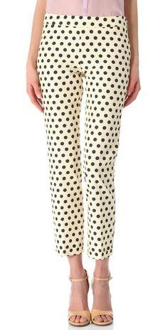 polka dotted pants. love!