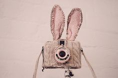 By pearled via glittertomb #knit | #Tumblr sewing projects, rabbits, bunni camera, ears, knit, pink, photographi, thing, cameras