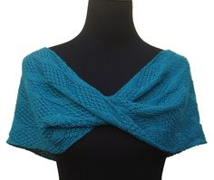This easy to stitch Moss Diamond and Lozenge Shoulder Wrap, utilizes a