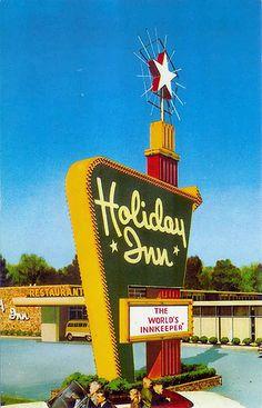 Vintage Holiday Inn postcard