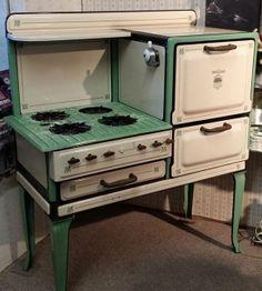 Rare Antique Skelgas Range Gas Stove Oven 1920s Warmer 4 Burners Vintage Propane