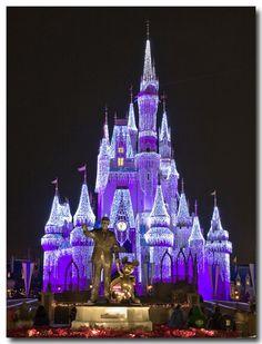 Cinderella's castle during holidays