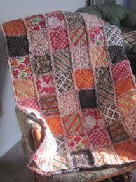 Riley Blake flannel rag quilt