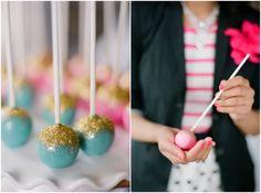 Glittered Cake Balls!