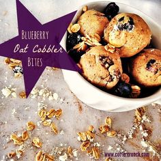 blueberry oat cobbler bites