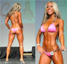 Taylor…    And even in contest body mode, she still isn't muscular @ todays post    > http://www.stayfitbuzz.com/2012/04/02/4-5-reasons-why-strength-training-wont-make-women-bulky